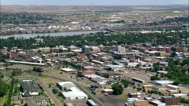 stockvideo's en b-roll-footage met great falls - luchtfoto - montana, gezien onder cascade county, verenigde staten - montana westelijke verenigde staten