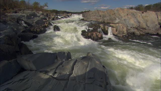 vídeos y material grabado en eventos de stock de ms pan great falls rapids on potomac river / virginia, usa - río potomac