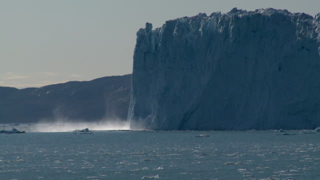 great glacier cliff calving - squirting stock videos and b-roll footage