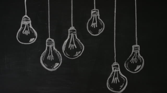 great ideas from many places - blackboard visual aid stock videos & royalty-free footage