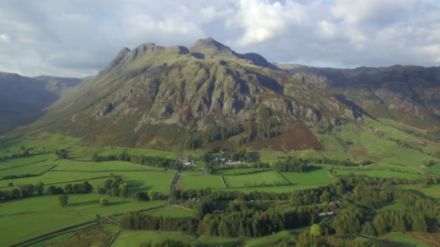 great langdale and the langdale pikes from side pike, lake district, cumbria, england - english lake district stock videos and b-roll footage