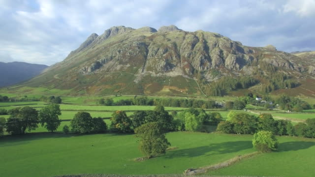 Great Langdale and the Langdale Pikes from Side Pike, Lake District, Cumbria, England