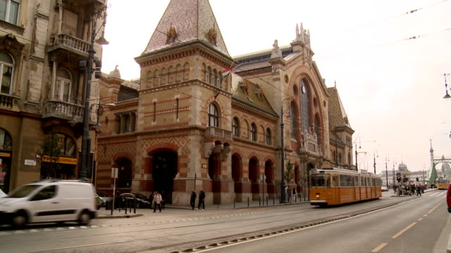 great market hall, budapest - budapest stock videos & royalty-free footage