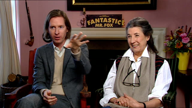 int wes anderson interview sot talks of walking round property and woods giving him inspiration - dahl stock videos and b-roll footage