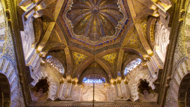 great mosque of córdoba - moschea video stock e b–roll