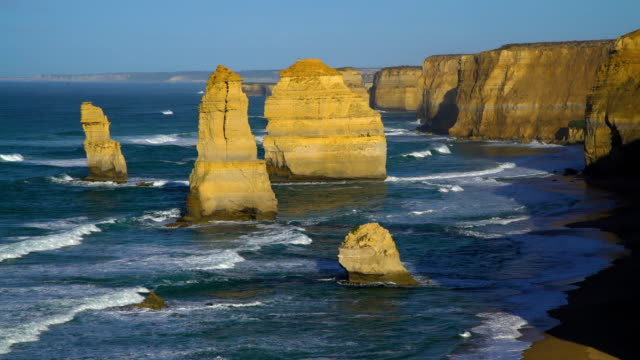 great ocean road coastal visitor attraction victoria australia - great ocean road stock videos & royalty-free footage