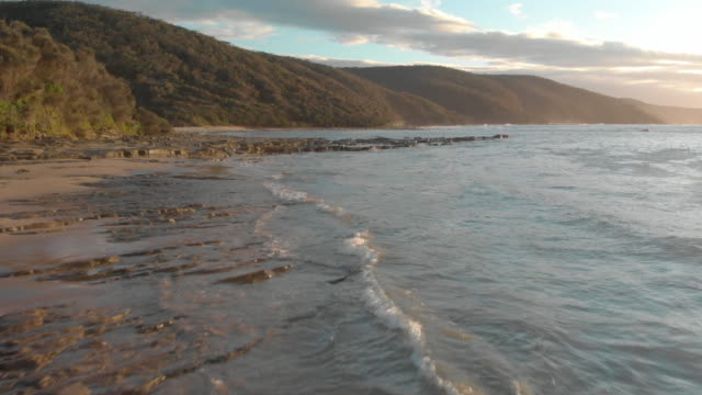 great ocean road coastline at sunrise - great ocean road stock videos & royalty-free footage