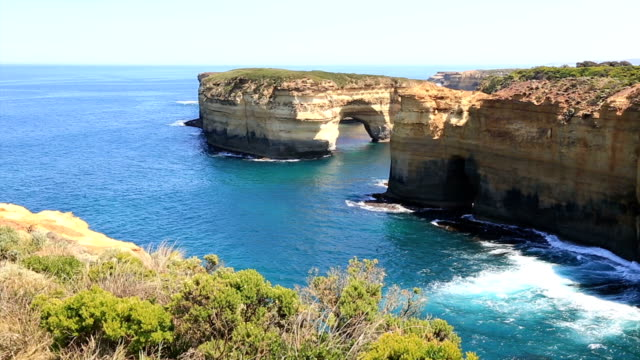great ocean road landscape, australia - great ocean road stock videos & royalty-free footage