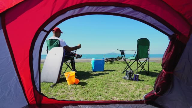 great place to have a coffee. - tent stock videos & royalty-free footage
