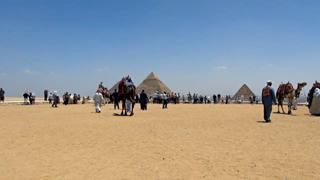 great pyramids - cairo, egypt - pyramid stock videos and b-roll footage