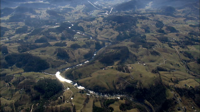 great smoky mountains - Aerial View - North Carolina,  Swain County,  United States