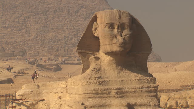 ms zo great sphinx of giza / giza, egypt - pyramid stock videos & royalty-free footage