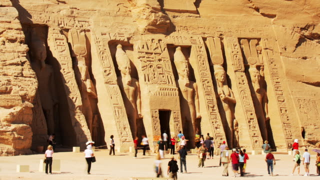 T/L, MS, Great Temple at Abu Simbel, Nubia, Egypt
