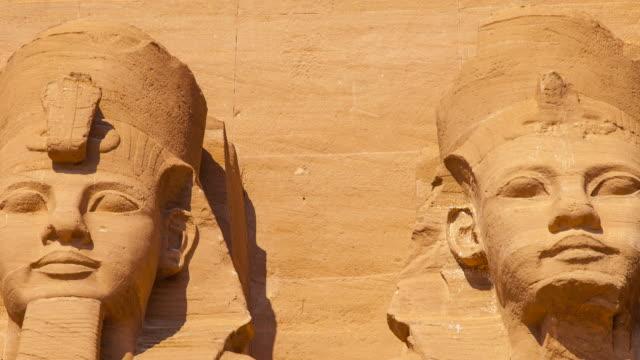 great temple of abu simbel, nile valley, egypt - egitto video stock e b–roll