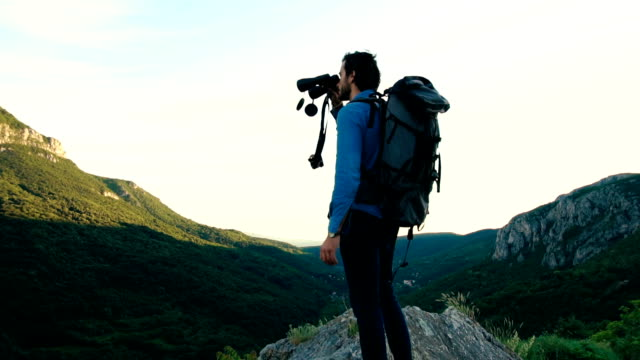great view of nature - binoculars stock videos & royalty-free footage