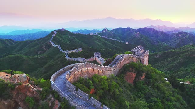 great wall during sunset - architecture stock videos & royalty-free footage