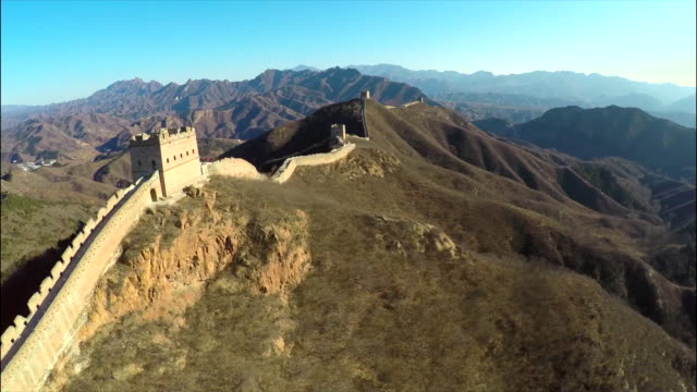 great wall of china aerial footage compilation. - great wall of china stock videos & royalty-free footage
