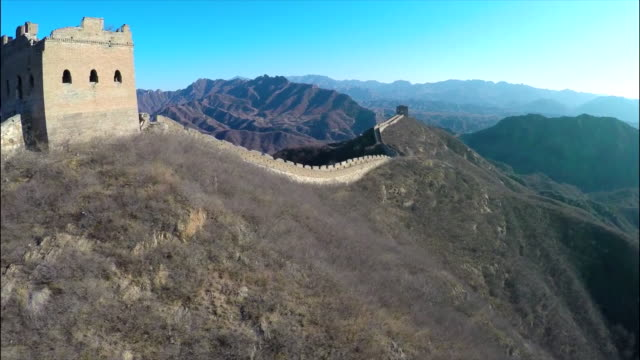 great wall of china aerial footage. - great wall of china stock videos & royalty-free footage