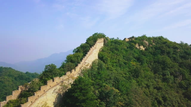 great wall of china aerial view - great wall of china stock videos & royalty-free footage