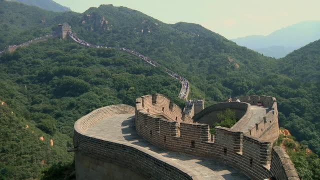 ws ha great wall of china at badaling / beijing, china - badaling great wall stock videos & royalty-free footage