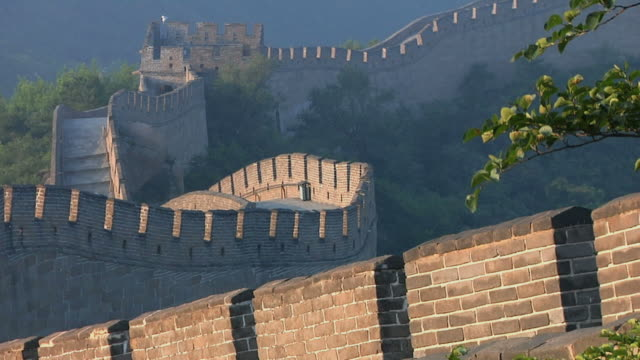 vidéos et rushes de ms great wall of china at badaling pass / beijing, china - grande muraille de chine
