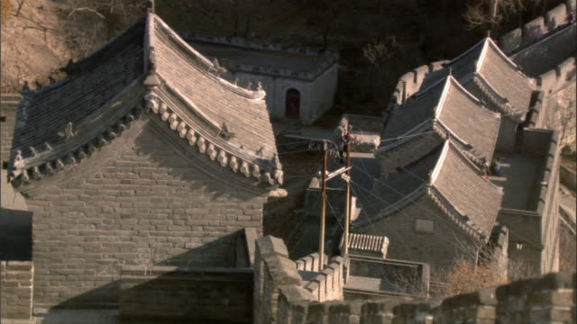 ms, ha, great wall of china, china - stationary process plate stock videos and b-roll footage