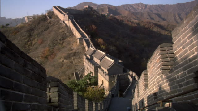 ws, ha, great wall of china, china - stationary process plate stock videos and b-roll footage