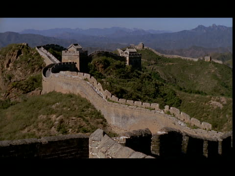 ws, great wall of china, china - great wall of china stock videos & royalty-free footage