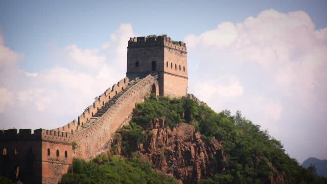 great wall of china clouds cu - great wall of china stock videos & royalty-free footage