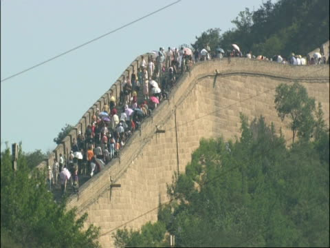 Great Wall of China crowded with tourists, Badaling, China