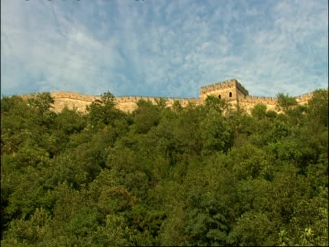 wa great wall of china, low angle, mutianyu, china - mutianyu stock videos & royalty-free footage