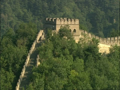 ms great wall of china on hillside, mutianyu, china - mutianyu stock videos & royalty-free footage