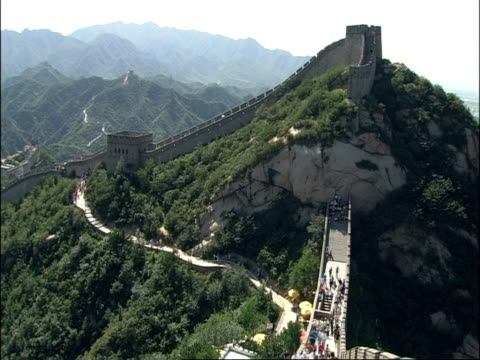 wa great wall of china on top of mountain, badaling, china - badaling great wall stock videos & royalty-free footage