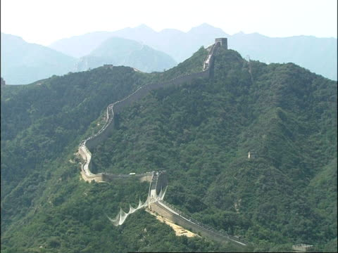 WA Great Wall of China, snaking up hill, Badaling, China