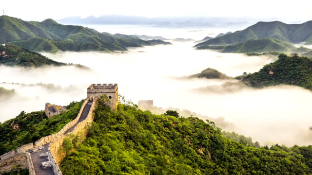 great wall of china time lapse - surrounding wall stock videos & royalty-free footage