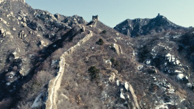great wall of china - chinesische mauer stock-videos und b-roll-filmmaterial