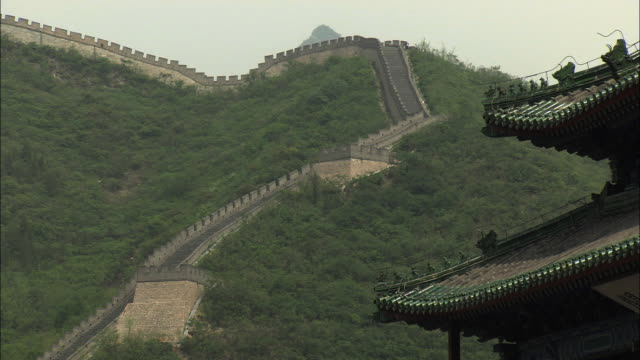 MS Great Wall of China with Pagoda in foreground, Beijing, China