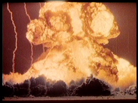 / greatest headlines of the century / doom town atomic blast test / at the u s atomic energy commission nevada test site / atomic explosion /... - hopelessness stock videos & royalty-free footage