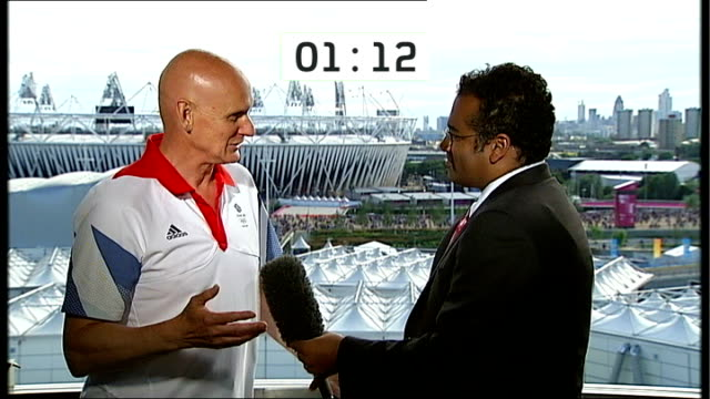 greatest olympian debate england london stratford olympic park int duncan goodhew interview sot on why michael phelps is the greatest ever olympian... - duncan goodhew stock videos & royalty-free footage