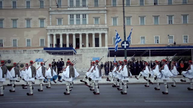 greece celebrated the anniversary of the 1821 war of independence from ottoman rule with a massive military parade traditionally taking place in... - armored vehicle stock videos & royalty-free footage