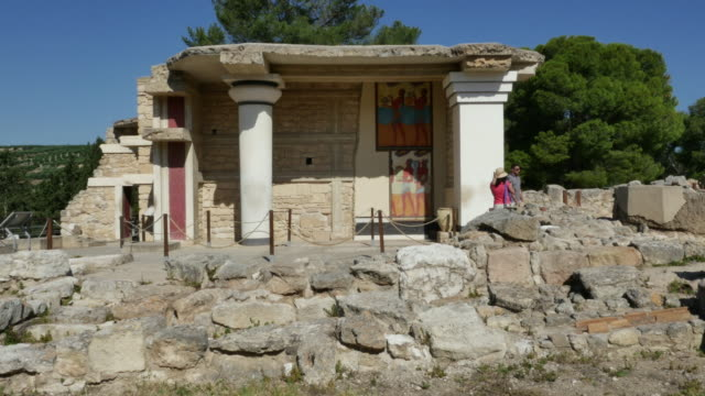 Greece Crete Knossos grand propylaea of palace