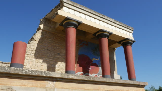 Greece Crete Knossos restored portico good