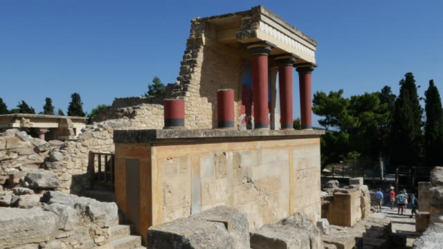 Greece Crete Knossos restored ruin section