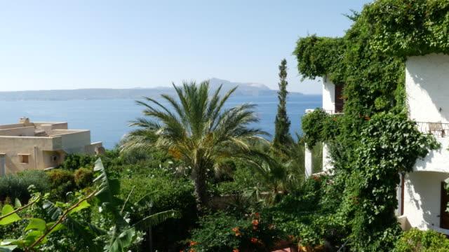 vidéos et rushes de greece crete plaka view from balcony - grèce