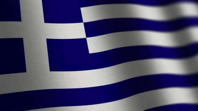 ギリシャの国旗 - ループします。 - ギリシャ国旗点の映像素材/bロール