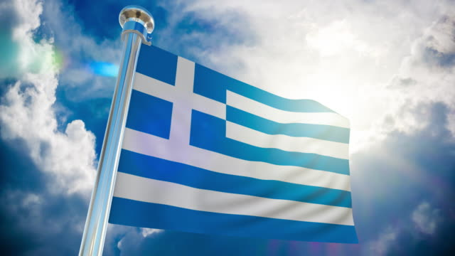 4k - greece flag | loopable stock video - all european flags stock videos and b-roll footage