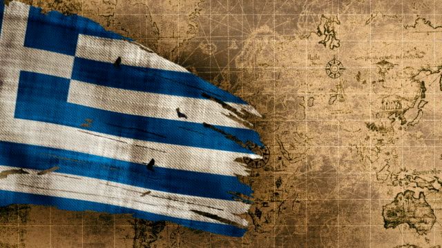 4k greece flag loopable - greek flag stock videos & royalty-free footage
