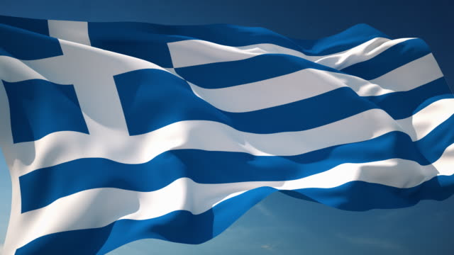 4k greece flag - loopable - greek flag stock videos & royalty-free footage