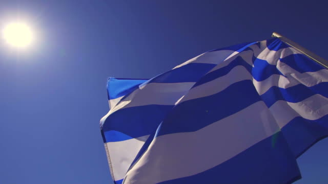 greece flag - santorini stock videos and b-roll footage