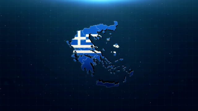 4k greece map with national flag - european union coin stock videos & royalty-free footage